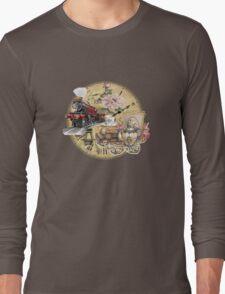 old-timey tea time Long Sleeve T-Shirt