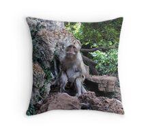 Wild Monkey Throw Pillow