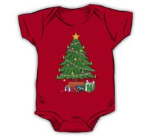 Christmas Tree and gifts - Kids One Piece - Short Sleeve