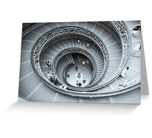 Spiral, staircase desaturated selenium tone. Greeting Card