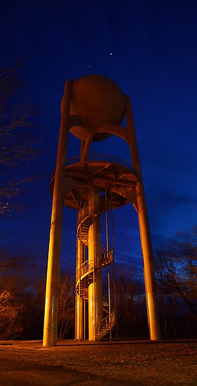 Giant City State Park Water Tower (with Aldebaran and Jupiter) by Daniel Owens