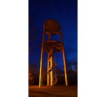 Giant City State Park Water Tower (with Aldebaran and Jupiter) Photographic Print
