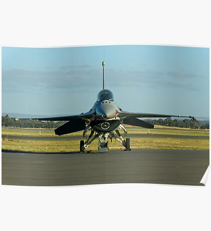 F-16 Head on Poster