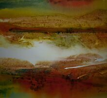 Watercolour: Dual landscape by Marion Chapman
