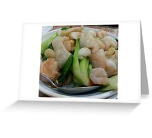 Seafood and Vegetables Greeting Card