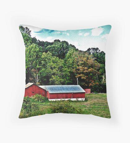 Hillside Barn Throw Pillow