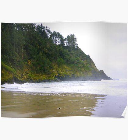 Oregon Beach Inlet Poster