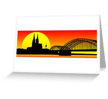 Cologne City Line - Cathedral Greeting Card