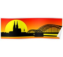 Cologne City Line - Cathedral Poster