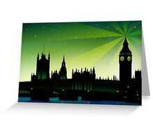 London Big Ben and house of parliament Greeting Card