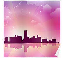 Miami City Line Poster