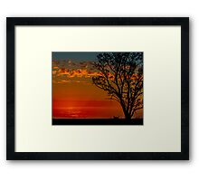 Hay plains sunset Framed Print