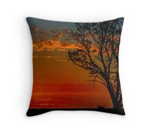 Hay plains sunset Throw Pillow