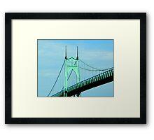 St. Johns Bridge - Portland Framed Print