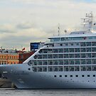 Silver Whisper Rests along English Embankment by M-EK