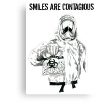 Smiles are contagious (w/ black text) Canvas Print