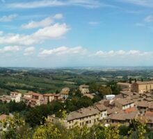 Panoramic View of Sienna from a Tower Sticker