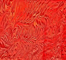 Marbling - Orange blaze  by Georgie Sharp