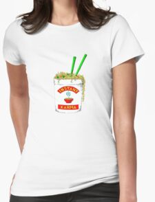 Instant Karma  Womens Fitted T-Shirt