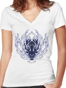 Tribal Tiger3 Women's Fitted V-Neck T-Shirt
