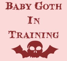 Baby Goth In Training - Kids Kids Tee