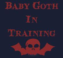 Baby Goth In Training - Kids Baby Tee