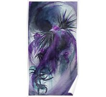"""Turbulent"" Abstract Watercolor Painting Poster"