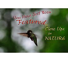 Close Ups in Nature - Featured Banner Challenge  Photographic Print