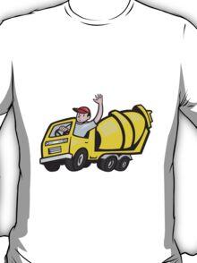 Construction Worker Driver Cement Mixer Truck  T-Shirt