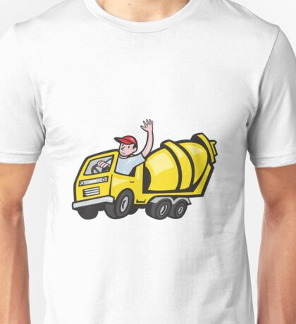 Construction Worker Driver Cement Mixer Truck  Unisex T-Shirt