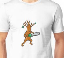 Tree Man Arborist With Chainsaw Unisex T-Shirt