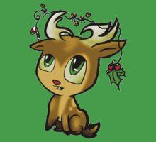 Cute Reindeer - Baby One Piece - Short Sleeve