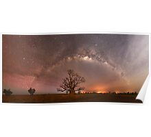 Boab Trees, Bushfires and Bright Stars Poster