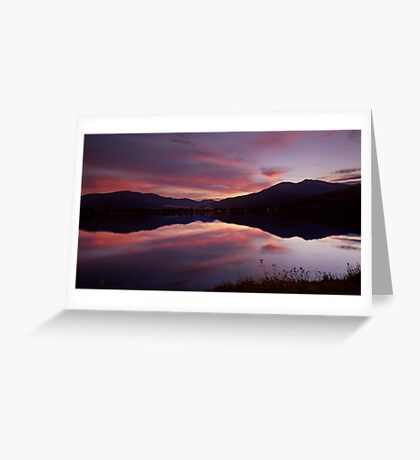 Reflections of Bogong Greeting Card