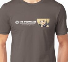 The Colorless Design 1337 front Unisex T-Shirt