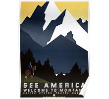 Vintage Travel Poster: Montana Poster