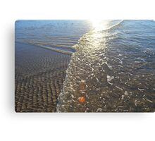 Textures on water Canvas Print