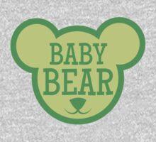 BABY Bear in teddy bear shape One Piece - Long Sleeve