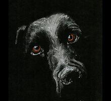 Sad Brown Eyes by JedmundsArt