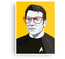 Star Trek James T. Kirk (William Shatner) Pop Art  illustration Metal Print