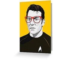 Star Trek James T. Kirk (William Shatner) Pop Art  illustration Greeting Card