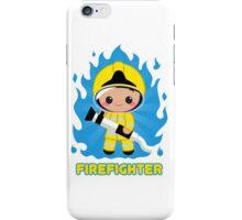 Cute Fire Fighter Yellow iPhone Case/Skin