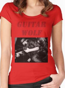 GUITAR WOLF 01 Women's Fitted Scoop T-Shirt