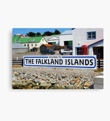Welcome to the Falkland Islands Canvas Print