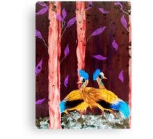 Cranes in the wood Canvas Print
