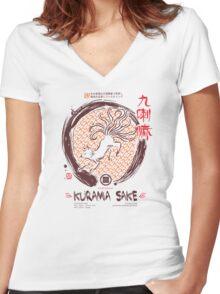 Sake Women's Fitted V-Neck T-Shirt