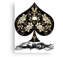 ACE of SPADES II Canvas Print