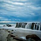 The Rocks at Lucy's Beach  by Pene Stevens