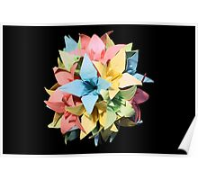 Origami Flowers #1-6 Poster
