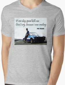 Paul Walker Fast Speed Killing Mens V-Neck T-Shirt